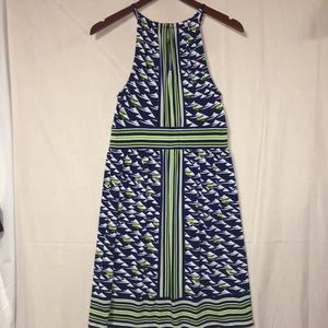 London Times sz 8 dress halter strap neckline